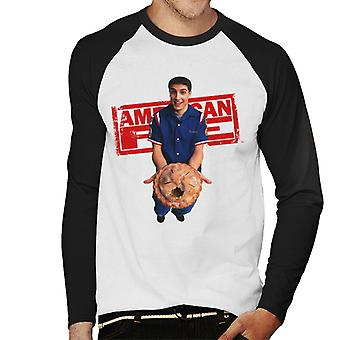 American Pie Jim Holding eaten Pie Men's Baseball langärmelige T-Shirt