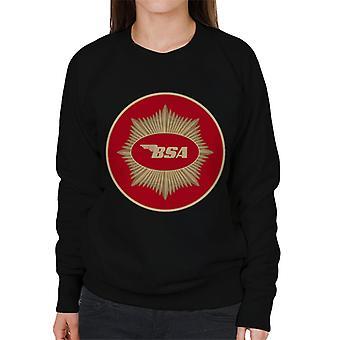 BSA Motorcycle Red Logo Women's Sweatshirt