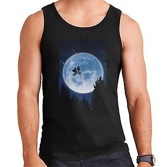 E.T. Flying Bicycle Movie Poster Men's Vest