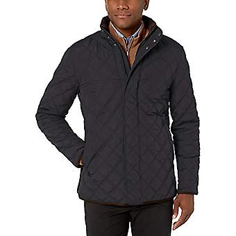 Brand - Buttoned Down Men's Water Repellant Quilted Car Coat, Black L