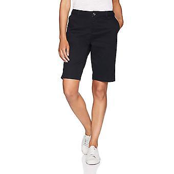 """Essentials Women-apos;s 10"""" Inseam Solid Bermuda Short Shorts, -black, 12"""