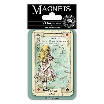 Stamperia Alice A Long Tale 8x5.5cm Magnet