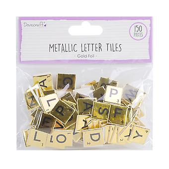 Dovecraft Gold Chipboard Letter Tiles