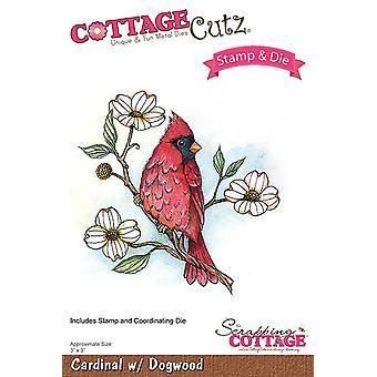 Scrapping Cottage Cardinal with Dogwood