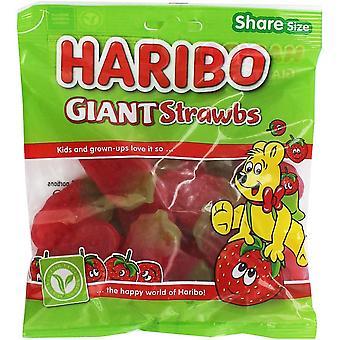 HARIBO Giant Strawbs Share Bag, 160g bag