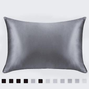 Luxury Single Solid Silk Satin Pillowcase Covers For Bed Throw