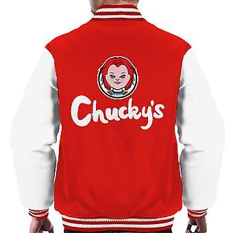 Chuckys Wendys Logo Parody Men's Varsity Jacket