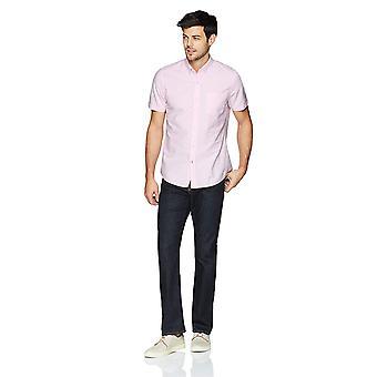 Goodthreads الرجال & apos;ق القياسية صالح قصيرة الأكمام الصلبة قميص أكسفورد ث / جيب, الوردي ...