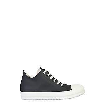 Rick Owens Drkshdw Du20f1802ruhp91 Men's White/black Leather Sneakers