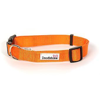 Doodlebone Adjustable Bold Collar - Medium - Orange