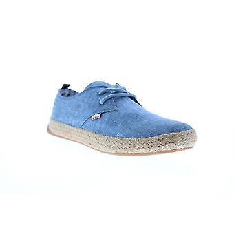 Ben Sherman New Jenson Lace Up Mens Blue Canvas Lifestyle Sneakers Shoes