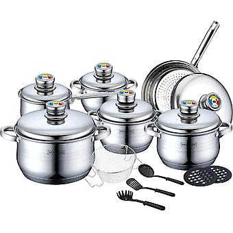 Pot, Frying and Saucepan Set with Thermocontrol