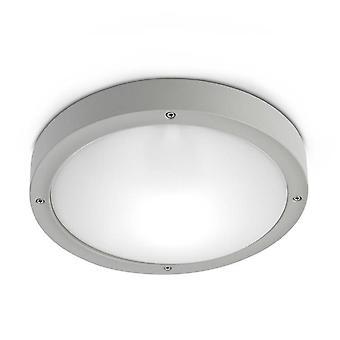 1 Light Outdoor Aluminium Ceiling Grigio chiaro IP65, E27