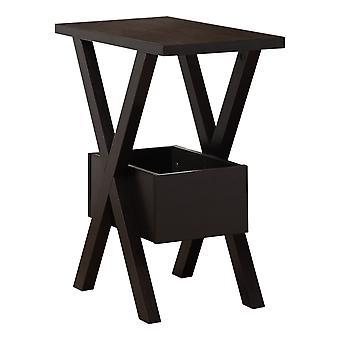 Rectangular Espresso Laminated Wood Accent Table
