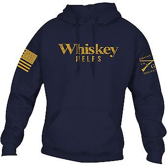 Grunt Style Whiskey Auttaa Villapaita Huppari - Navy