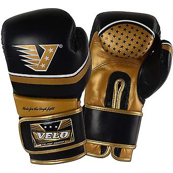 VELO Cowhide Leather Boxing Gloves PR6