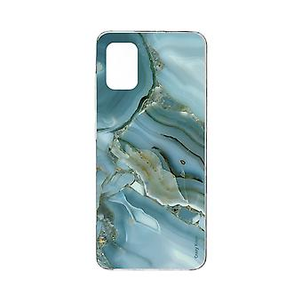 Hull For Samsung Galaxy A71 Flexible Marble Effect Design
