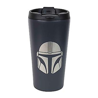 Star Wars Travel Mug Mandalorian Bounty Hunter new Official Black Metal
