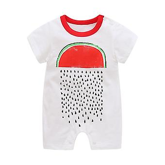 Sommar stil kortärmad flickor klänning baby romper bomull nyfödd body suit