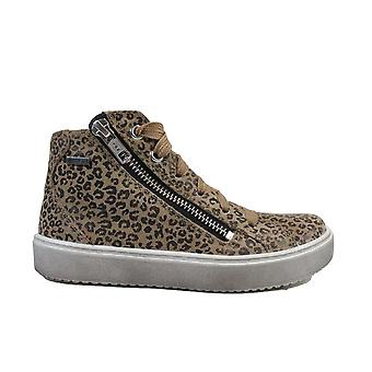 Superfit Heaven 006493-40 Leopard Print Suede Leather Girls Gore-Tex® Sneaker Boots