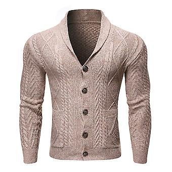 Allthemen Men's Solid Casual Sweater Cardigan Knit Pocket Button Classic Top