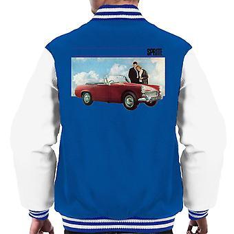Austin Healey Sprite Mark IV Admired By Couple British Motor Heritage Men's Varsity Jacket
