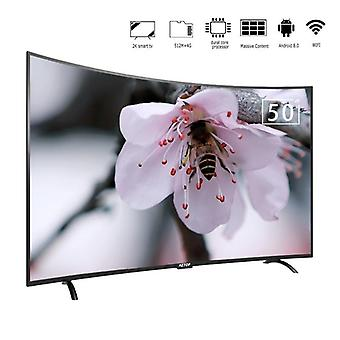 Curved Smart Led Television 4k -ultra Hd Android Tv 50 pulgadas curvado Led TV pantalla con Bluetooth