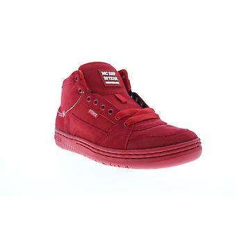 Etnies MC Rap High  Mens Red Suede Lace Up Skate Inspired Sneakers Shoes