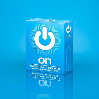 On condoms natural feeling - pack of 3