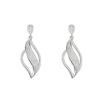 Orecchini d'argento e ossidi di zirconio - apos;Ternura-apos;