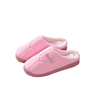 Ladies fluffy slippers keep warm and comfortable in winter, non-slip slippers