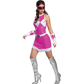 Women's Pink Ranger Deluxe Costume - Mighty Morphin