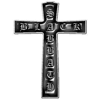 Black Sabbath Pin Badge Cross Band Logo nou Oficial Metal Rever