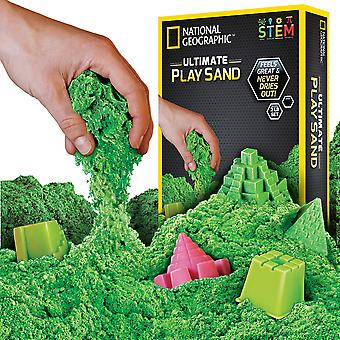 National geographic ngsandg2 green play 900 g of sand with castle moulds and tray, grams 900 grams