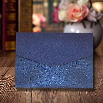 10 Kings Blue Pearlescent A6 Pocketfold wedding Convites