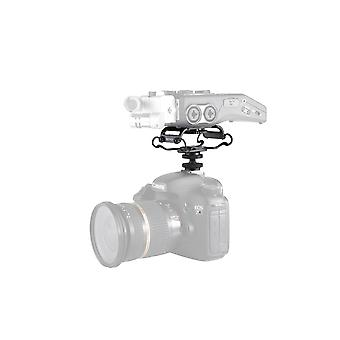 Movo smm5-r universal microphone and portable recorder shock mount - fits the zoom h4n, h5, h6, tasc