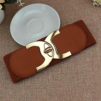 Fashion Korean Style Buckle Elastic Wide Belt Wide Cummerbund Strap Belt