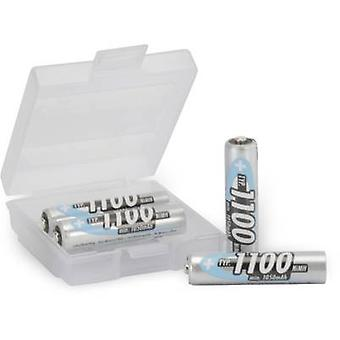 ANSMANN HR03 + Box AAA Batterie (Akku) NiMH 1050 mAh 1,2 V 4 PC