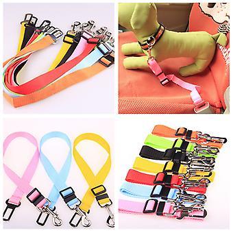 Car Seat Belt For Pet Dog Cat  Adjustable Harness Seatbelt Lead Leash for Small Medium Dogs Travel Clip Pet Supplies