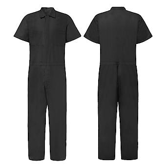 Male Jumpsuit, Short Sleeve, Basic Work Coverall Loose Cargo, Casual Joggers