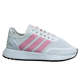 Adidas Originals N-5923 Kids White Pink Low Lace Up Juniors Trainers CG6947