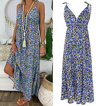 Damen Kleider, Sommer Strand Spaghetti Strap Sonnenkleid