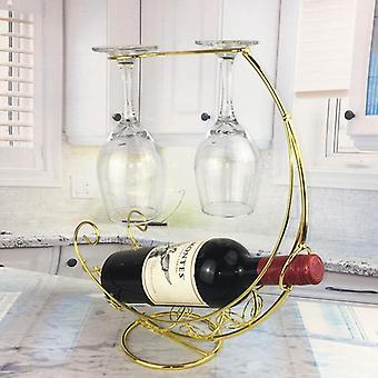 Creative Metal Wine Rack Hanging Glass Holder Bar Stand Bracket Display Stand