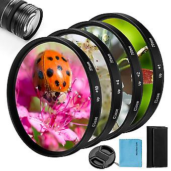 67Mm close-up filter kit,fotover 4 pieces(+1,+2,+4,+10) macro filter accessory close-up lens filter