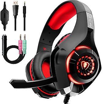 Ακουστικά παιχνιδιών για ps4, beexcellent σαφήνεια κρυστάλλου μείωσης θορύβου άνεσης 3.5mm οδηγημένος επαγγελματικός χ