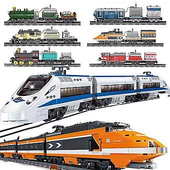 Technic Battery Powered Electric City Passenger Train Rail Track Sets