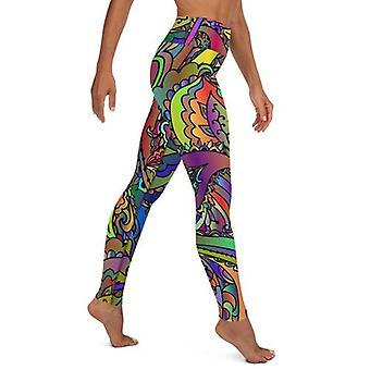 Kolorowe legginsy do jogi Paisley Butterfly