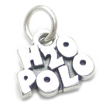 H20 Polo Sterling Silver Charm .925 X 1 Water Waterpolo Charms - 3756