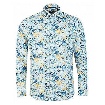 Remus Uomo Leaf Print Shirt