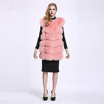 Long Real Fox Fur Vest